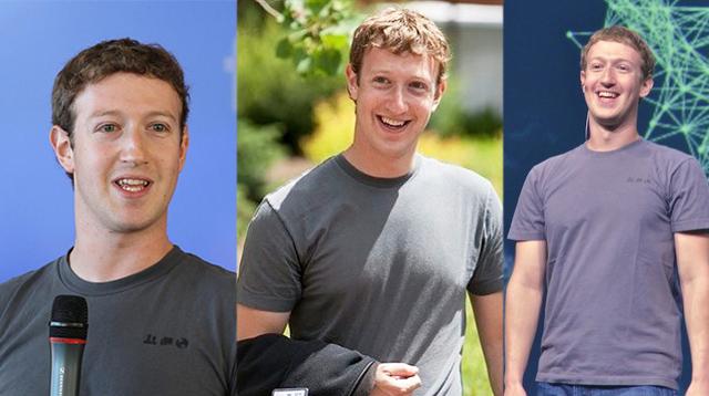 Ông chủ Facebook thường diện một mẫu áo phông xám đơn giản.