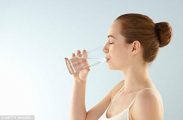 Image result for uống đủ nước