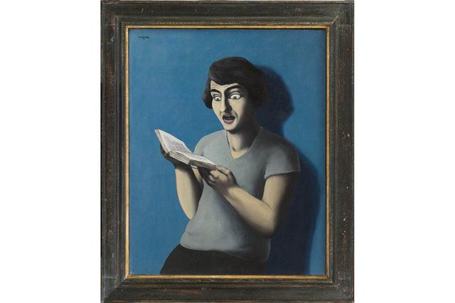 Bức họa The Subjugated Reader của tác giả René Magritte, 1928.