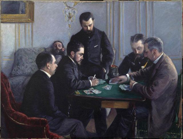 Trò chơi Bezique, tác giả Gustave Caillebotte, 1880.
