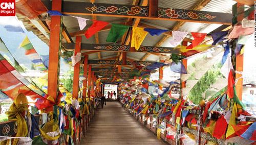 Một cây cầu truyền thống ở thủ đô Thimphu.