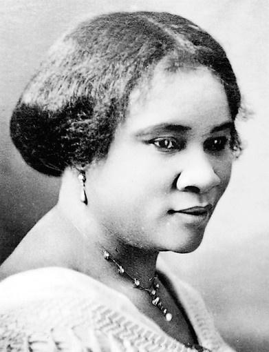 Chân dung triệu phú Madam C.J. Walker. Bà sinh năm 1867, mất năm 1919.