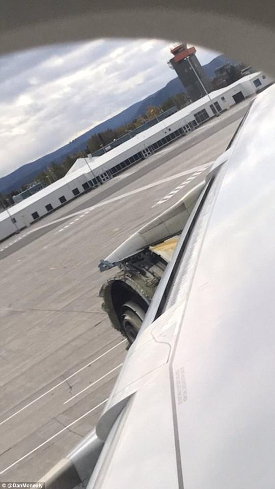 Máy bay hạ cánh an toàn và không có ai bị thương. Ảnh: Daily Mail