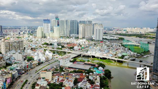 Đoạn tuyến metro băng ngang đường Nguyễn Hữu Cảnh (điểm giao giữa quận 1 và Bình Thạnh)