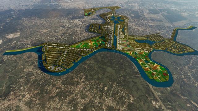 Phối cảnh về khu đô thị Sài Gòn New City tại Củ Chi