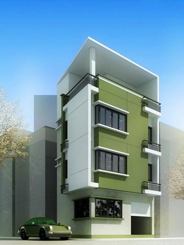 Nhà hai mặt tiền giúp gia chủ khoe nhiều đường nét và các khối kiến trúc. Ảnh: Kientrucdmc.