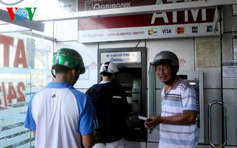 Máy ATM nơi chị Huỳnh Đoàn Ngọc Hân rút tiền sáng nay