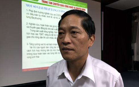 Ông Trần Văn Tùng, Thứ trưởng Bộ Khoa học và Công nghệ.