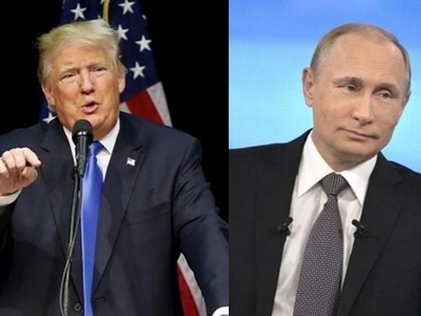Tổng thống đắc cử Mỹ Donald Trump và Tổng thống Nga Vladimir Putin. (Nguồn: Reuters)