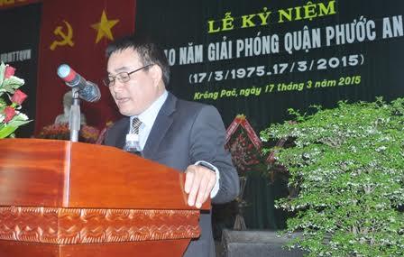 Ông Nguyễn Sĩ Kỷ khi còn làm Chủ tịch UBND huyện Krông Pắk - ảnh Báo Đắk Lắk