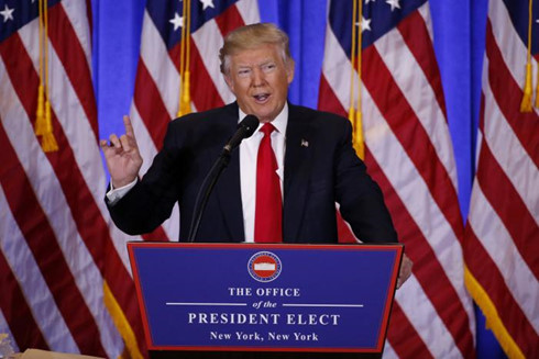 Ông Trump và một số người được đề cử vào nội các có suy nghĩ trái chiều về một số vấn đề. Ảnh: AP