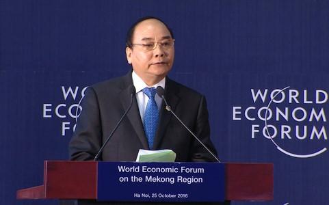Thủ tướng tham dự Diễn đàn Kinh tế thế giới về khu vực Mekong 2016. Ảnh minh họa