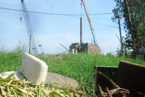 Dự án Diamond Riverside chỉ là bãi cỏ mọc um tùm với máy móc nằm bất động