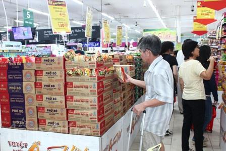 Thực phẩm chay là sản phẩm người tiêu dùng quan tâm ngày rằm. Ảnh siêu thị Big C cung cấp