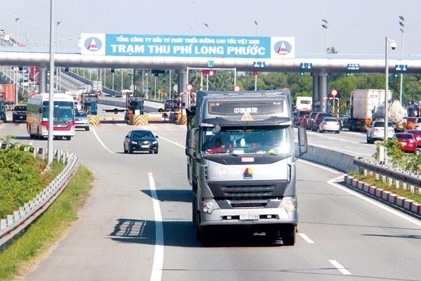 Trạm thu phí Long Phước trên cao tốc TP.HCM - Long Thành - Dầu Giây.