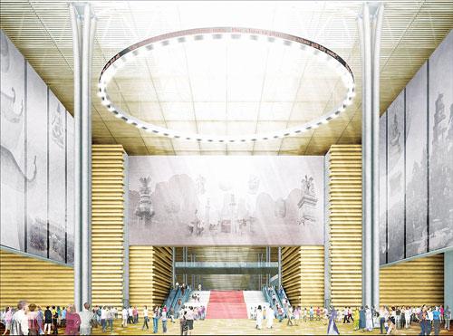 Công trình gồm có 4 hạng mục xây dựng: Tòa nhà chính; Khu tưởng niệm danh nhân; Khu trưng bày ngoài trời; Hạng mục kỹ thuật phụ trợ, cây xanh, cảnh quan.