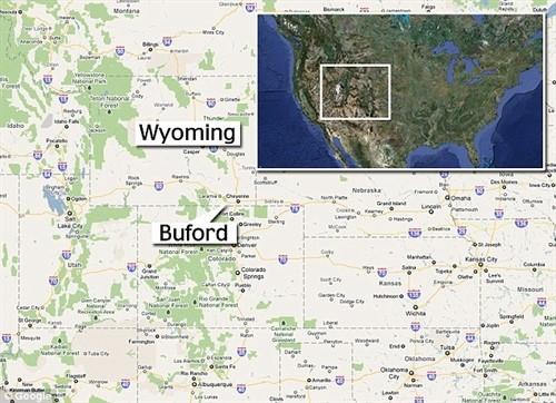 Vị trí thị trấn Buford trên bản đồ nước Mỹ.