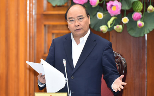 Thủ tướng Nguyễn Xuân Phúc phát biểu tại buổi làm việc với lãnh đạo chủ chốt của Bộ Giao thông Vận tải.