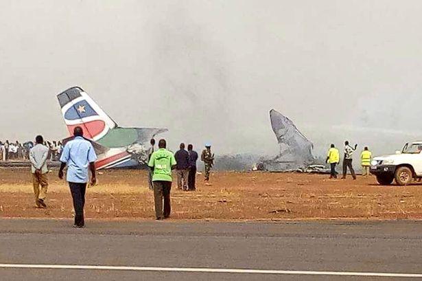 Hiện trường vụ tai nạn xảy ra tại Nam Sudan.