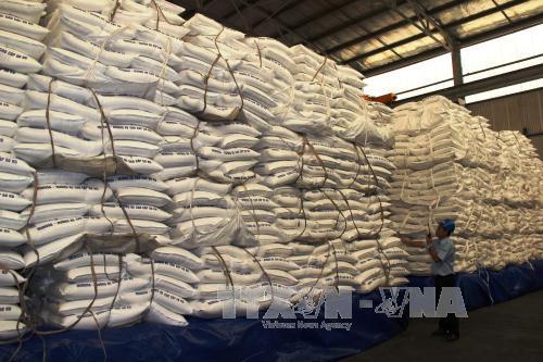 Kho đường tại nhà máy đường Thành Thành Công Tây Ninh. Ảnh: Lê Đức Hoảnh/TTXVN