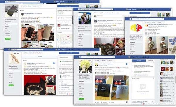 Nhộn nhịp chợ trên mạng Facebook.