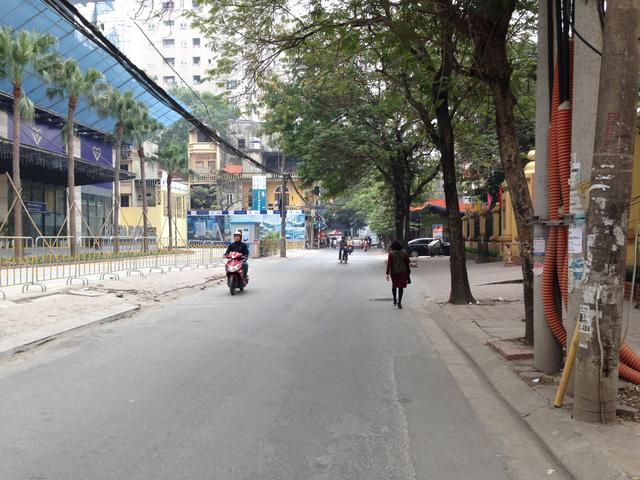 Tuyến đường Vũ Trọng Phụng chỉ cho phép ô tô di chuyển 1 chiều hướng Vũ Trọng Phụng - đường Nguyễn Trãi.