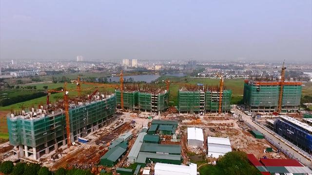 Gelexia có tiến độ xây dựng khá nhanh khi có những tòa đã vươn đến tầng 10.