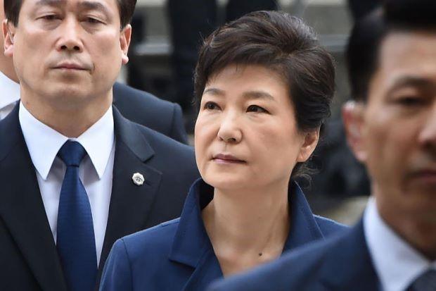 Cựu Tổng thống Park Geun Hye sẽ chính thức bị truy tố hôm nay. Ảnh: AFP.