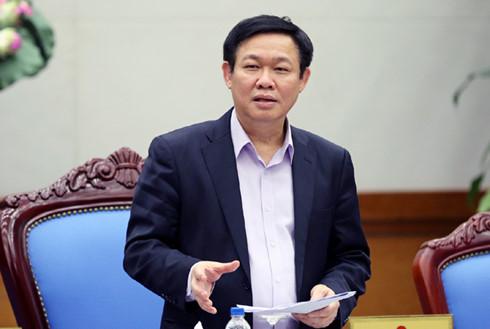 Ủy viên Bộ Chính trị, Phó Thủ tướng Vương Đình Huệ phát biểu tại cuộc họp Ban chỉ đạo điều hành giá.