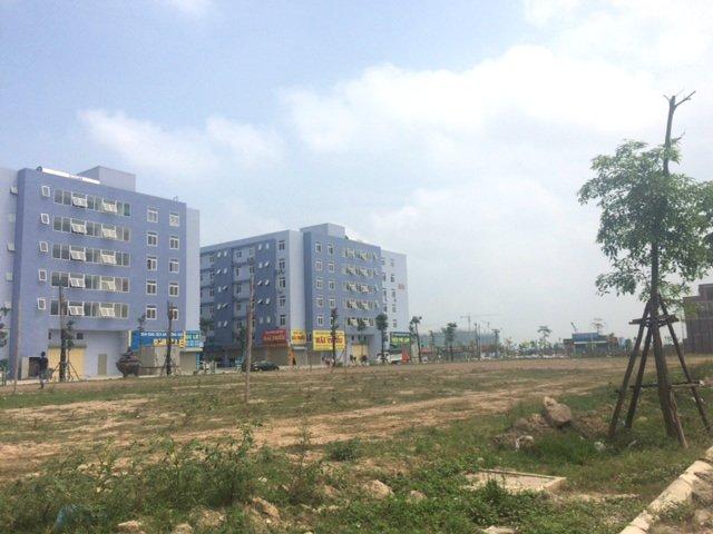"""Hạ tầng tại khu đô thị Thanh Hà Cienco 5 vẫn còn ngổn ngang lèo tèo vài hàng cây xanh nhưng giá đất đã được thổi tăng """"dựng đứng"""" từng ngày, từng giờ."""