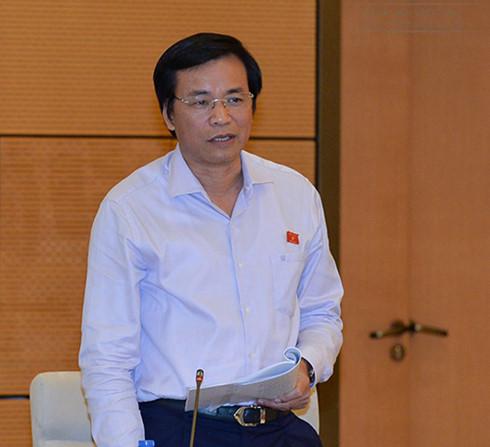 Tổng Thư ký Quốc hội Nguyễn Hạnh Phúc phát biểu tại phiên họp