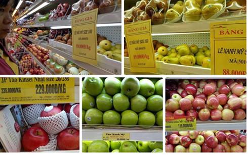 Nhiều loại hoa quả ngoại tràn vào siêu thị Việt (Ảnh minh họa)