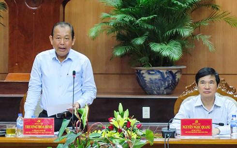 Phó Thủ tướng Trương Hòa Bình phát biểu tại buổi làm việc
