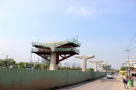 Dự án đường sắt đô thị, tuyến Bến Thành - Suối Tiên có nguy cơ dừng thi công do giải ngân chậm. Ảnh: PLO