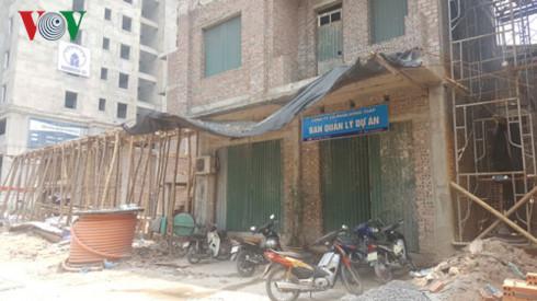 Dự án tại 129D Trương Định, quận Hai Bà Trưng đang bị đình chỉ thi công vì sai phạm.