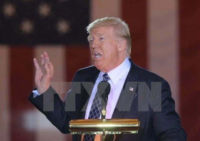 Tổng thống Mỹ Donald Trump phát biểu tại một sự kiện ở Washington, DC ngày 25/4. (Nguồn: AFP/TTXVN)
