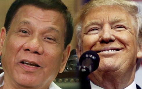 Ông Duterte (trái) và ông Trump. Ảnh: ABS-CBS