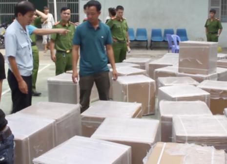 Số thuốc tân dược bị bắt giữ.