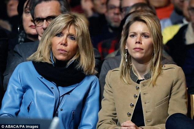 Tiphaine Auzière là con gái út của bà Brigitte Trogneux với người chồng cũ.