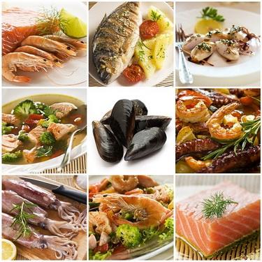 Các loại hải sản thường rất giàu đạm và dễ gây dị ứng.