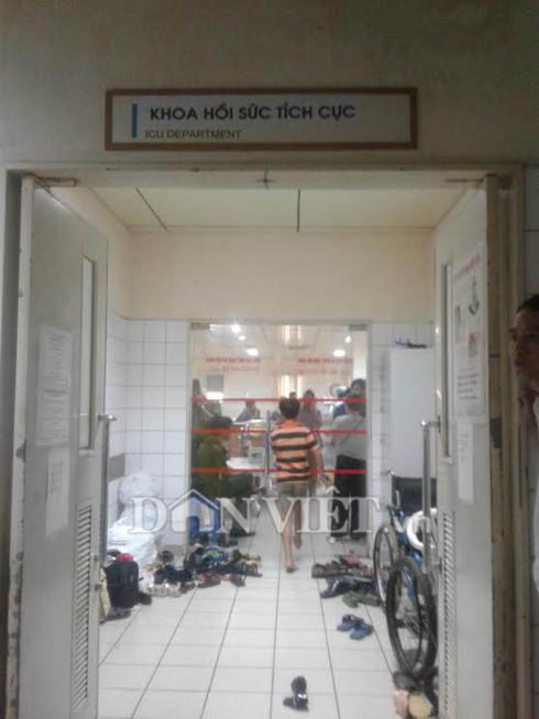 Tại khoa Hồi sức tích cực (ảnh: Dân Việt)