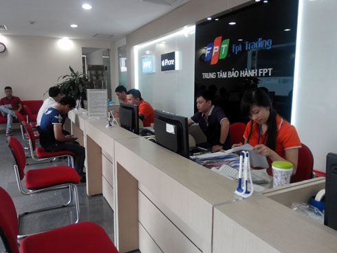 Trung tâm bảo hành của FPT Trading - Ảnh: chungta