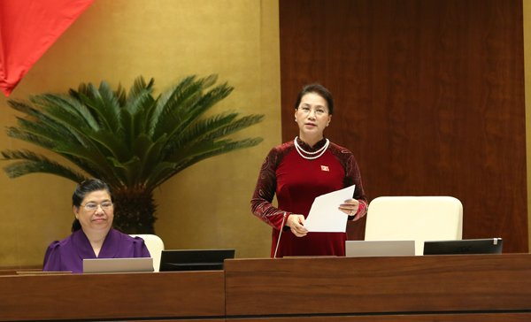 Chủ tịch QH đánh giá phiên chất vấn tại kỳ họp thứ 3 đã làm hài lòng nhiều cử tri. Ảnh: Hoàng Anh