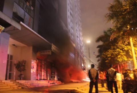 Sự cố hỏa hoạn xảy ra tại tòa nhà CT14, khu đô thị Xa La năm 2015