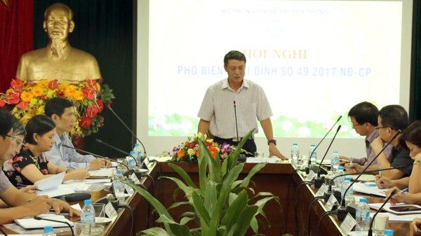Thứ trưởng Bộ TT&TT Phạm Hồng Hải phát biểu chỉ đạo cuộc họp. Ảnh: Quang Anh.
