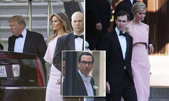 Gia đình Tổng thống Donald Trump dự tiệc cưới của Bộ trưởng Tài chính Steve Mnuchin. Ảnh: Cetus news