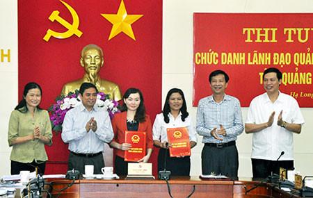Thi tuyển Phó giám đốc sở tại Quảng Ninh - địa phương tiên phong trong việc thi tuyển các chức danh lãnh đạo