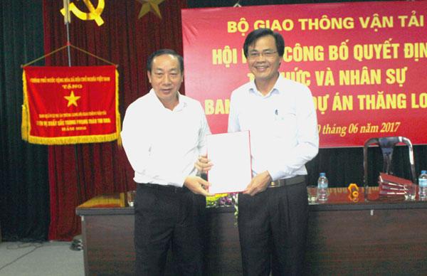 Ông Dương Viết Roãn được bổ nhiệm làm Giám đốc PMU Thăng Long từ 1/7