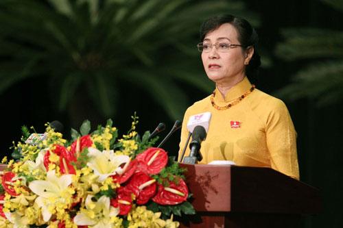 Chủ tịch HĐND TP Nguyễn Thị Quyết Tâm Phát biểu khai mạc kỳ họp thứ 5 HĐND TP HCM khóa IX