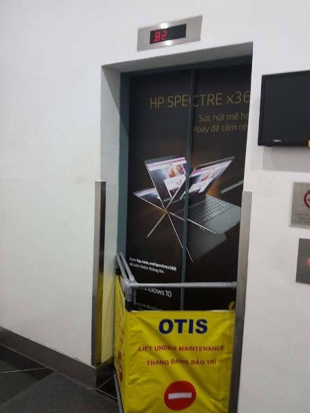 Khu vực thang máy ở tòa nhà Bitexco bị sự cố tối 9/7